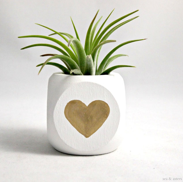 Gold Heart Planter