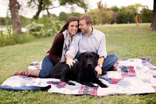 Engagement Pictures with dog