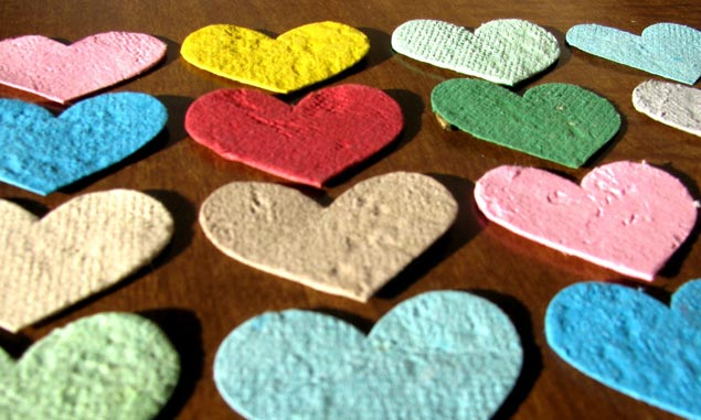 Paper Heart Seed Packets