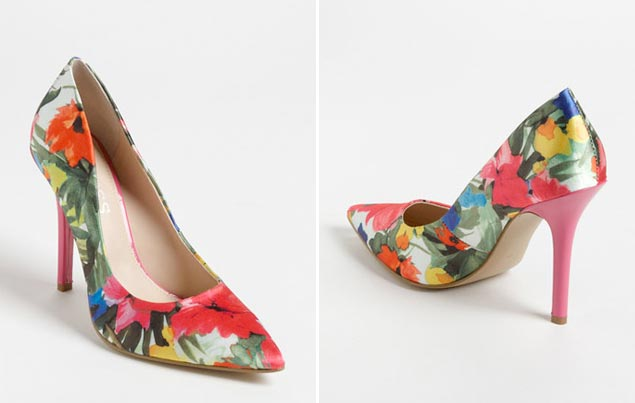 Wedding Shoes Floral Heels
