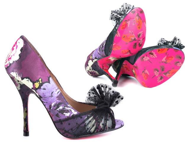 Purple Floral Pumps