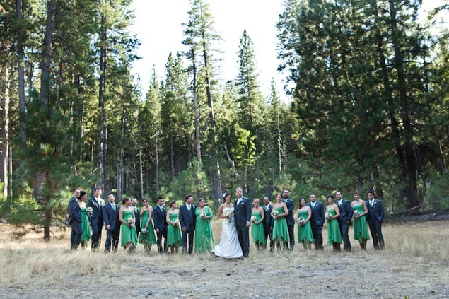 Wedding Party Woods Photo