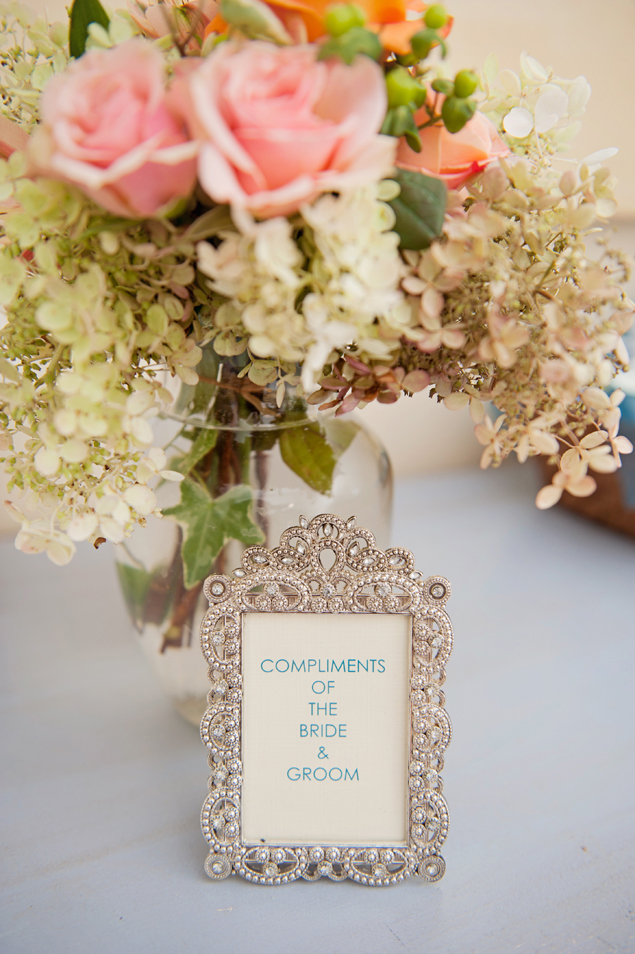 framed wedding details