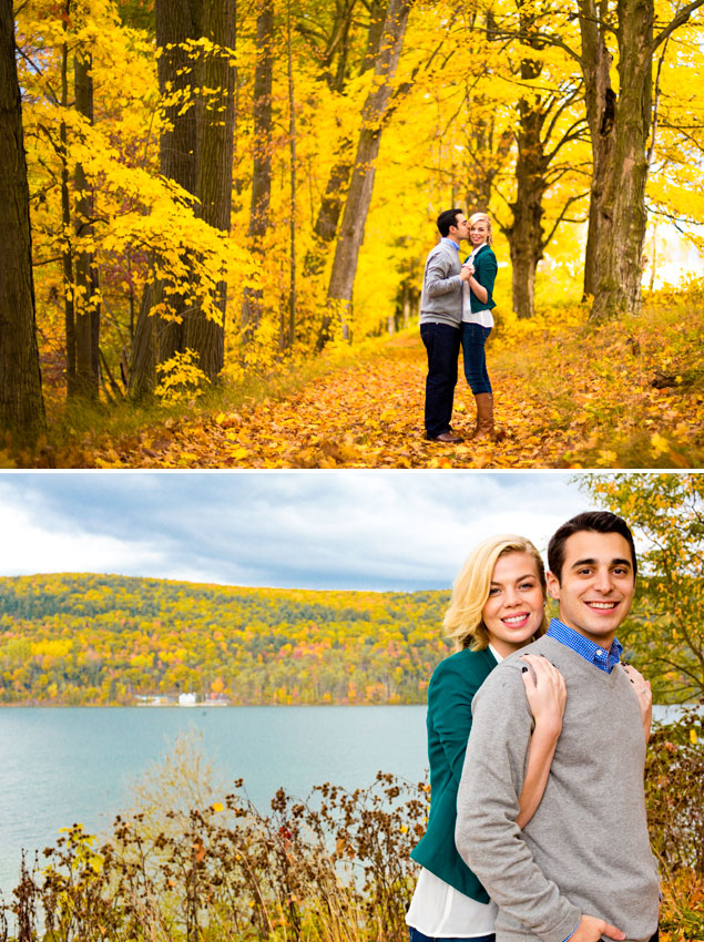 Colorful Fall Engagement