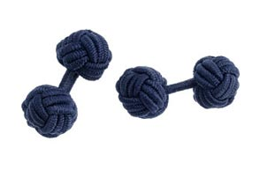 Fabric Knot Cufflinks