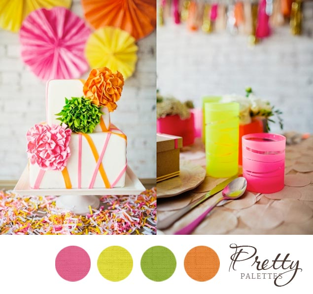 neon wedding colors