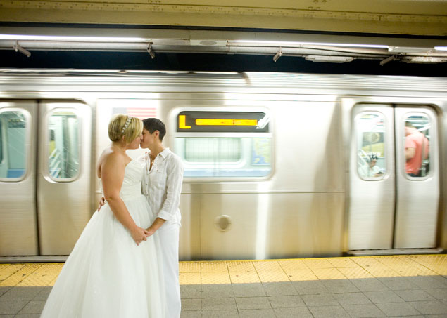 Subway Wedding Pictures