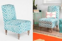 Blue Chevron Chair