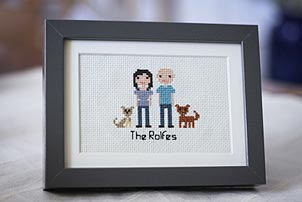 Cross Stitch Couple
