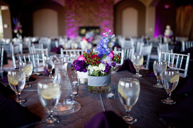 Purple Floral Centerpieces