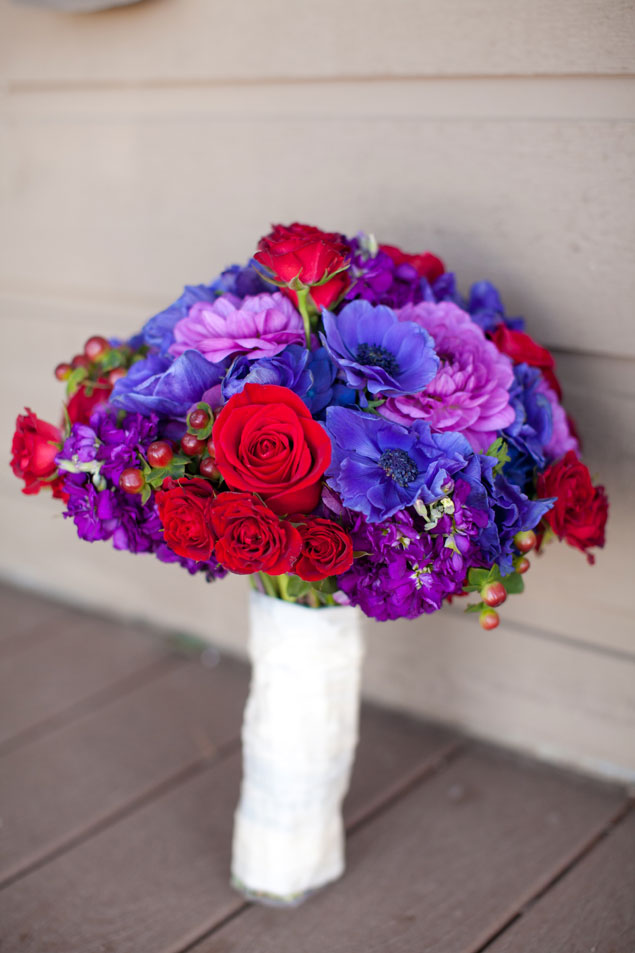 Red and Purple Bouquet