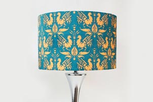 Green Gold Lamp Shade