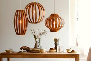 Hanging Wood Lights