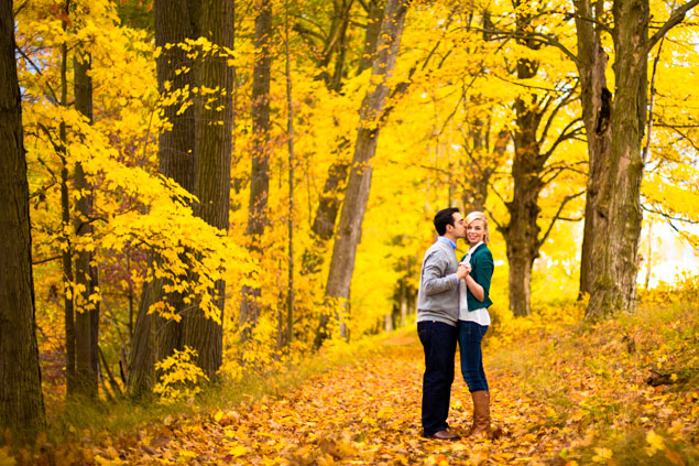 Bright Fall Engagement Pictures