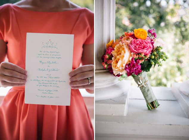 Bright colorful wedding