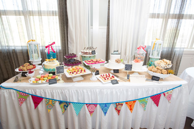 Colorful Wedding Sweets Table