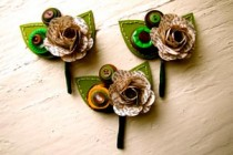 Paper Boutonnieres