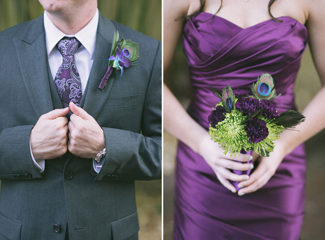 Purple Wedding Attire