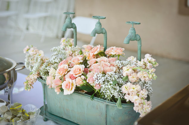Vintage Inspired Wedding Floral Decor