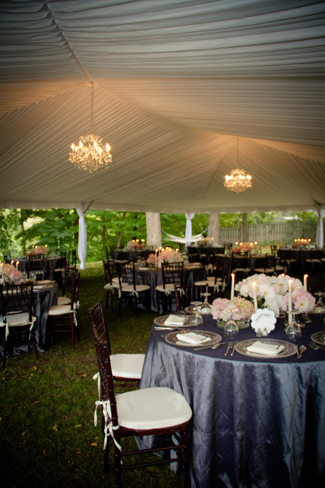Elegant Tented Wedding Reception