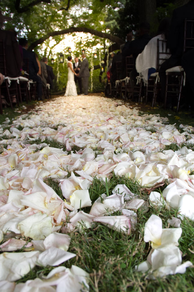Flower Petal Aisle Decor