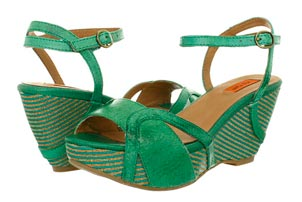 Emerald Wedge Sandals