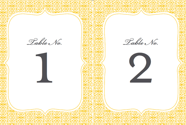 Free Wedding Printables Table Numbers