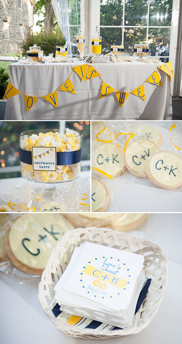 Yellow and Blue Wedding Details