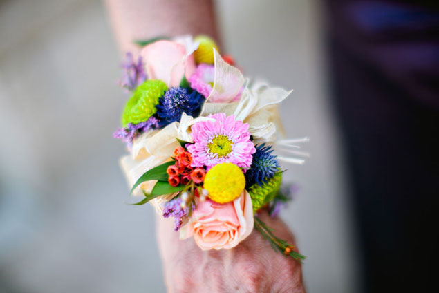 Colorful Wedding Corsage