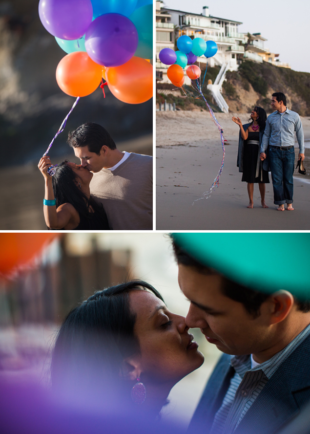 Balloon Engagement Photos