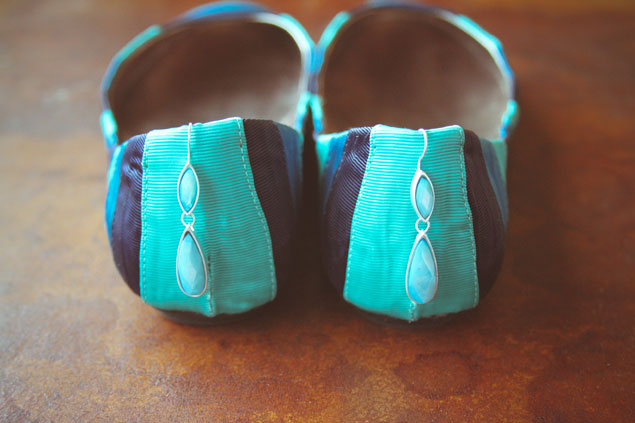 Teal and Navy Wedding Flats