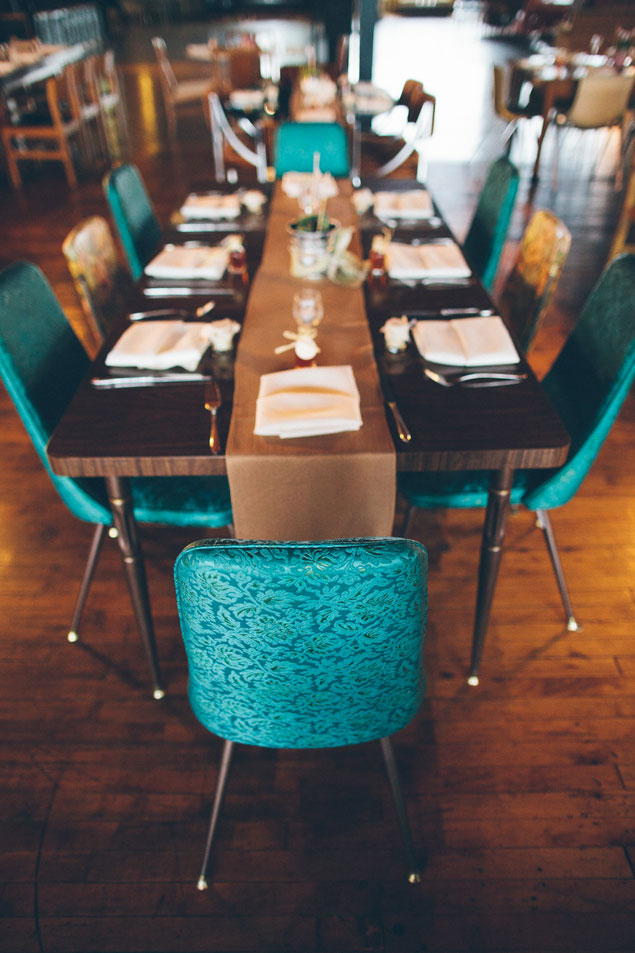 Teal Wedding Chairs
