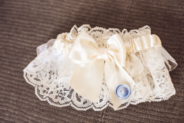 Ivory Wedding Garter with Bow