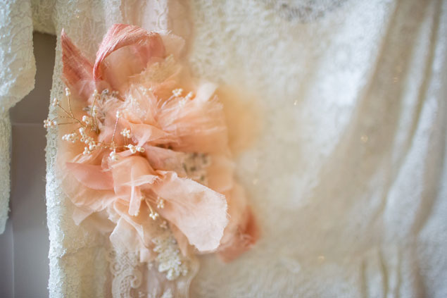 Peach Wedding Sash