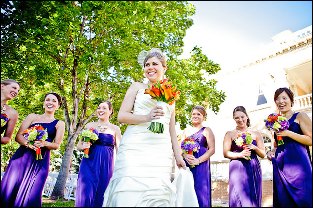 Long Purple Bridesmaid Dresses