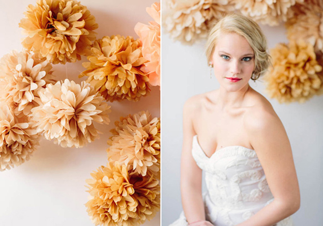 Wedding Poms Backdrop