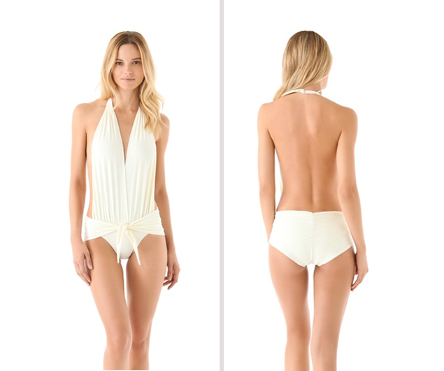 White One Piece Bathing Suits