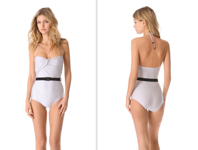 White Once Piece Swimsuit