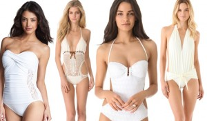 Honeymoon Swimwear: White Once Pieces