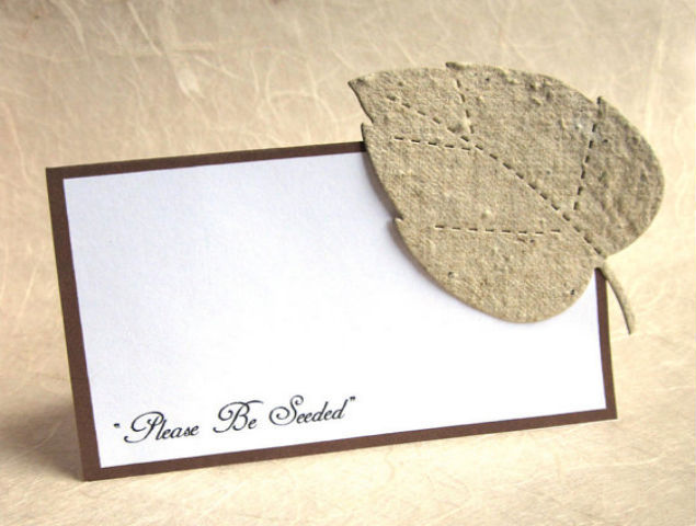 Plantable Wedding Escort Cards
