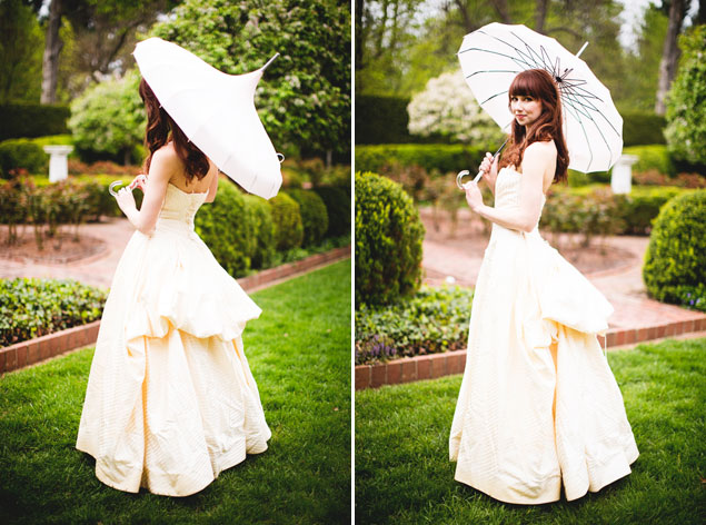 Vintage Bride with Parasol