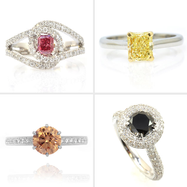 Colored diamond engagement rings for Colored diamond wedding ring