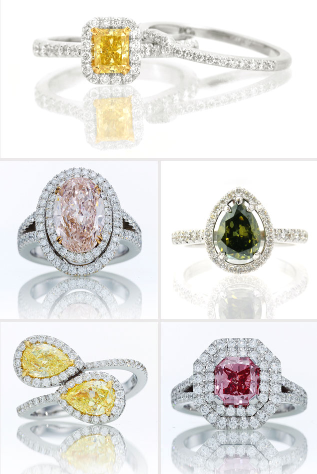 Colored Diamond Rings