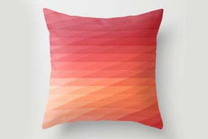 Coral Peach Pillow
