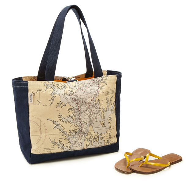 Map Beach Tote