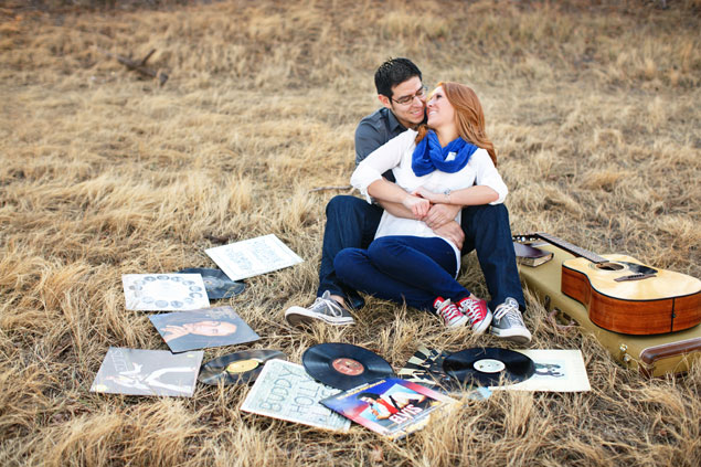 Music Themed Engagement Shoot