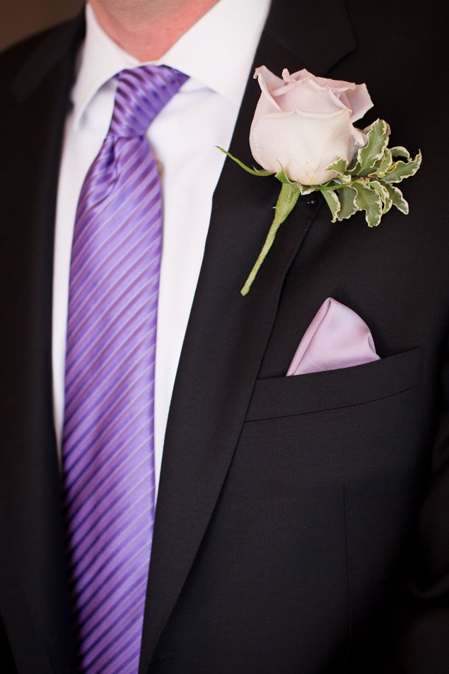 Purple Groom's Tie