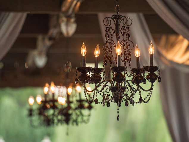 Black Wedding Chandeliers