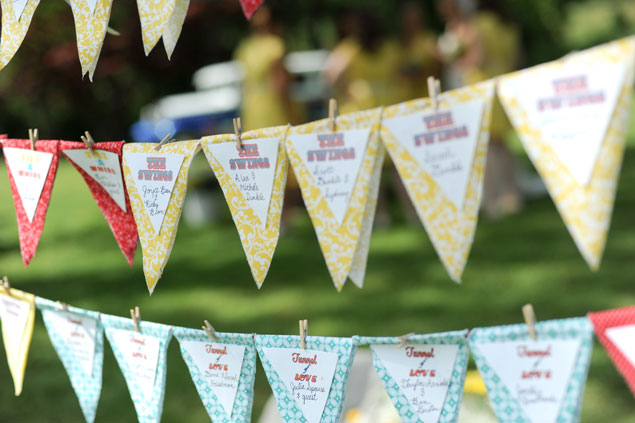 Bunting Banner Escort Cards