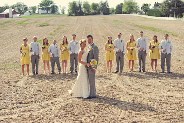 Yellow & Grey Wedding Party
